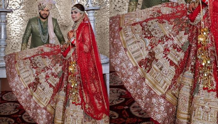 Ginni Chatrath's Wedding Lehenga Has Stunning Mathura Ghats, A Close Look At It Will Blow Your Mind
