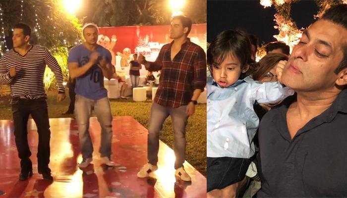 Salman Khan, Sohail Khan, Arbaaz Khan Dance Together At Nephew Ahil Sharma's Christmas Party