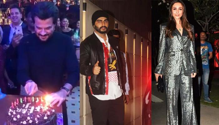 Arjun Kapoor And Malaika Arora Attend Anil Kapoor's 62nd Birthday Bash Along With The Kapoor Family