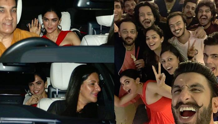 Deepika Padukone Cheers For Hubby Ranveer Singh With His Family At The Screening Of 'Simmba'