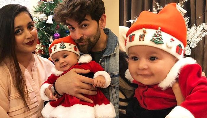 Neil Nitin Mukesh And Rukmini Sahay's Baby, Nurvi Dresses Up As Little Santa In Her First Christmas
