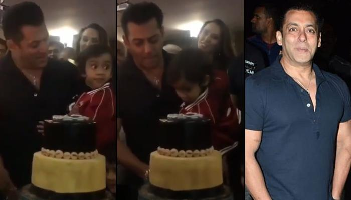 Salman Khan Cuts His Birthday Cake With Nephew Ahil And Girlfriend Iulia Vantur Stands By Their Side