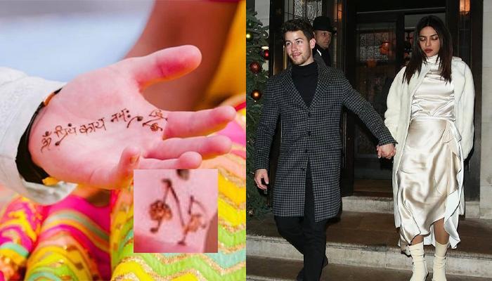 Unseen Pic Of Nick Jonas' Sanskrit Mantra Mehendi Design Dedicated To Priyanka Chopra Is Unmissable
