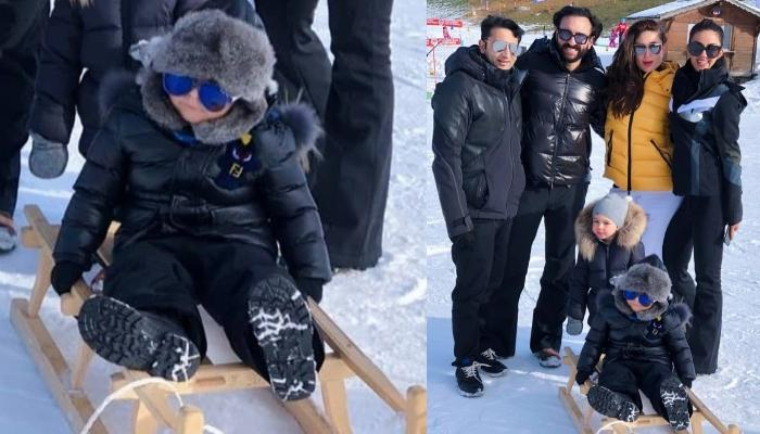 Taimur Ali Khan Skiing In Switzerland With Kareena And Saif Will Make Your Weekend Even More Amazing