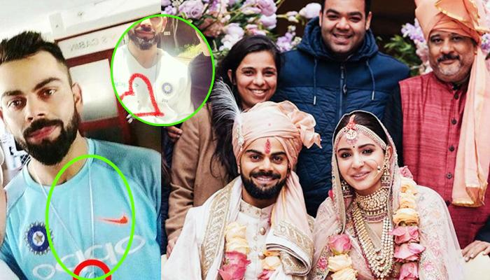 Virat Kohli Wedding.Newly Married Virat Kohli Wears His Wedding Ring Around His Neck