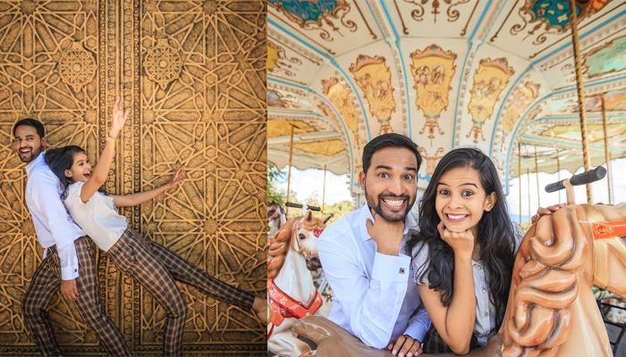 Skip Romance,This Couple Had A Super-Fun Pre-Wedding Shoot At  Imagica To Relive Their Childhood