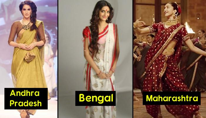 15 Unique Styles How The Sarees Are Draped In Different
