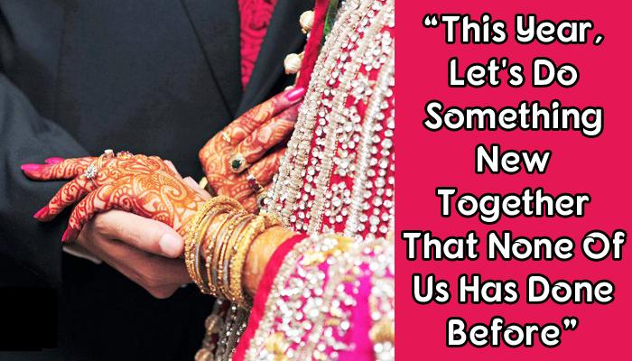 New Year Resolutions Every Bride Can Make With Her Husband