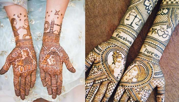 26 Beautiful Mehendi Designs Of Real Brides Flaunting Their Love Stories