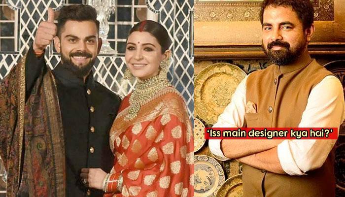 Designer Sabyasachi Got Trolled For Anushka's Delhi Reception Outfit; Here's How He Reacted