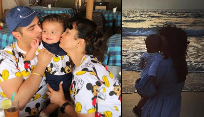 Kavish Mehra Travels To Goa On His First Vacation With Mommy Nisha And Daddy Karan