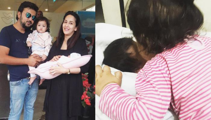Mommy Chahatt Khanna Shares An Adorable Picture Of Her Two Daughters, Shows Sibling Love Is The Best