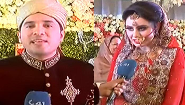 Pakistani Journalist Covers His Own Wedding For A News Channel And The Video Is Going Viral!
