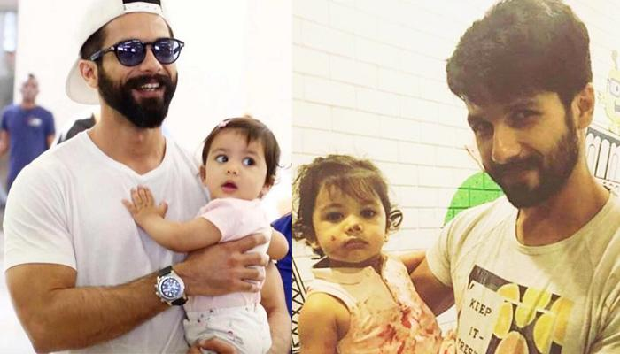 Seeing Daughter Misha Covered In Paint, Doting Daddy Shahid Admires Smiling At Her