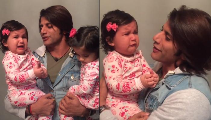 Karanvir Bohra Twins Get Excited To Meet Him After A Long Time, Bella Couldn't Control Her Tears