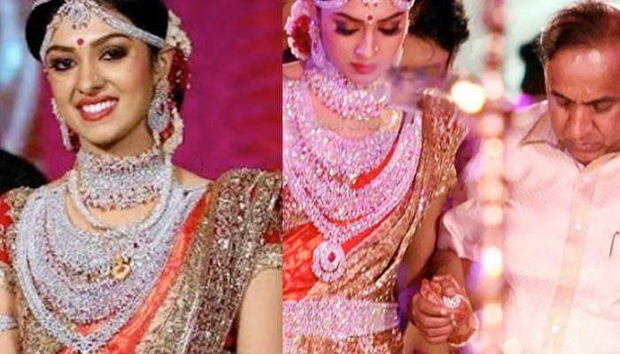 No Gold Jewellery, Only Diamonds! Richest Keralite Businessman's Daughter Arathy On Her Wedding Day