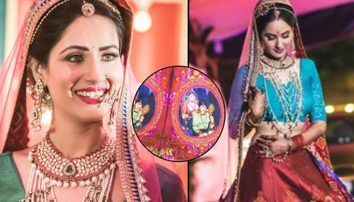 Puja Banerjee's Engagement Lehenga Is The Most Unique Multi-Coloured Lehenga We Have Ever Seen
