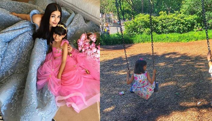 Pic Of Aishwarya And Aaradhya Enjoying Swing In A Park Is All About 'Maa-Beti Ka Pyaar'
