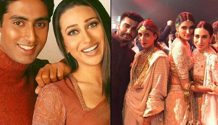 Exes Abhishek And Karisma Attend Mohit Marwah's Wedding; Shweta Poses For A Pic With Karisma
