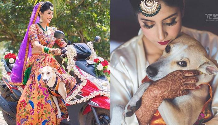 Bride Colour-Coordinated Her Outfits With The Dog Who Was Also Her Best Man At Goa Wedding