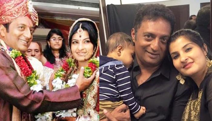 Despite Having An Age Gap Of 12 Years, Prakash Raj Married Again At 45 And Became Father At 50