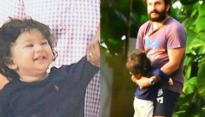 Taimur Ali Khan Giggles While Enjoying His Park Visit With Daddy Saif, Pictures Inside!