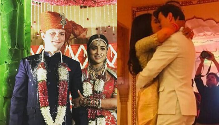 Newly-Weds Shriya Saran And Andrei Koscheev's Post-Wedding Kiss Picture Goes Viral