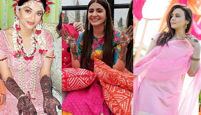 19 Beautiful Bollywood Actresses And Their Real Life Mehendi Look