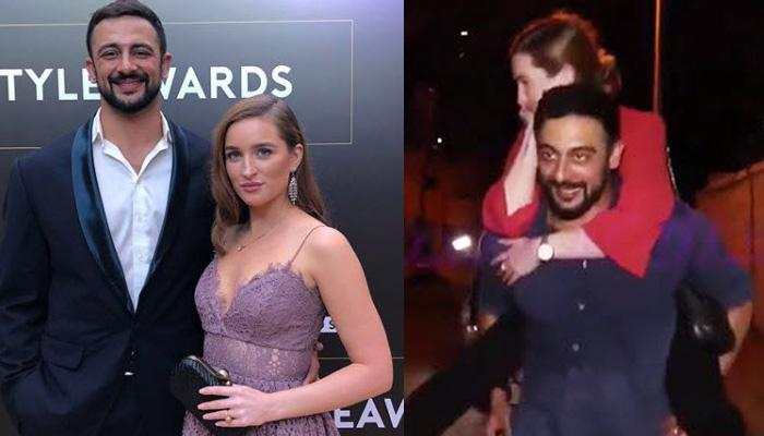 'Aisha' Fame Actor Arunoday Singh Cutely Carries His Wife On Back As She Was Tired, Video Inside!