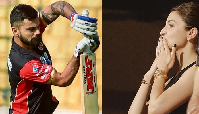 Anushka Sharma Blew A Flying Kiss To Virat Kohli After He Won The Match. Check Video Inside!