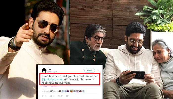 Abhishek Bachchan's Epic Reply To A Troll Who Mocked Him For Living With His Parents