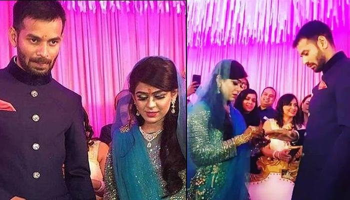 Lalu Prasad Yadav's Eldest Son Tej Pratap Got Engaged To Aishwarya Rai Yesterday, Pictures Inside