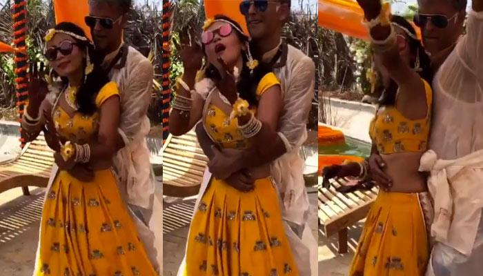 Milind Soman And Ankita Konwar Dancing To 'Ban Jaa Tu Meri Rani' On Haldi Ceremony
