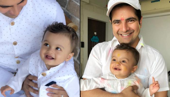 Karan Mehra Twins In White With His Son Kavish Mehra, Li'l One's Smile Is Too Cute To Be Missed