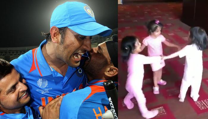 Ziva Dhoni, Gracia Raina And Hinaya Heer Plaha 'Fall Down' To Ringa-Ringa-Roses; Video Inside