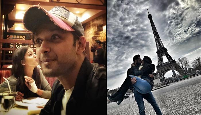 Vatsal Sheth And Ishita Dutta Kiss Under The Eiffel Tower On Their Second Honeymoon
