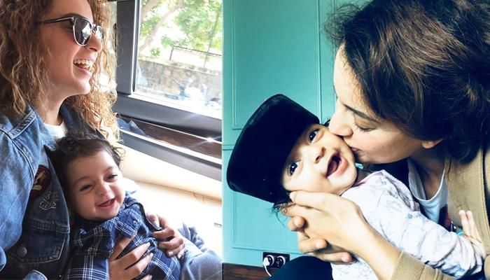 'Maasi' Kangana Spends Time With Her Nephew Prithvi Raj, Her Childlike Smile Is Too Cute To Miss