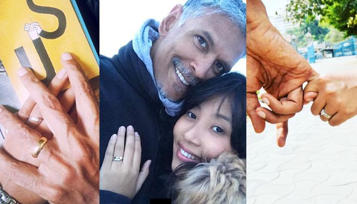 52 YO Milind Soman Is Already Engaged To His 26 YO Girlfriend Ankita Konwar! That Ring Is Beautiful