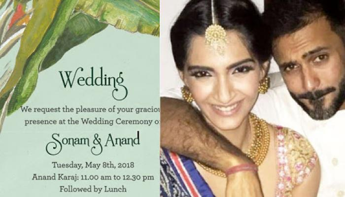 Sonam and anands wedding invitation card is here reveals details sonam and anands wedding invitation card is here reveals details about wedding functions stopboris Image collections