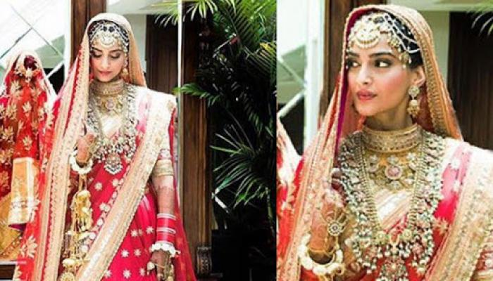 (Live Updates) Here's The First Look Of The Bride Sonam Kapoor, Check Out The Complete Pic Inside!