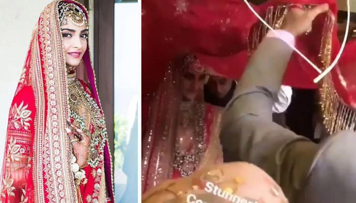 Sonam Kapoor Blushes As She Makes A 'Traditional Entry' Towards Her 'Mandap' (WATCH)