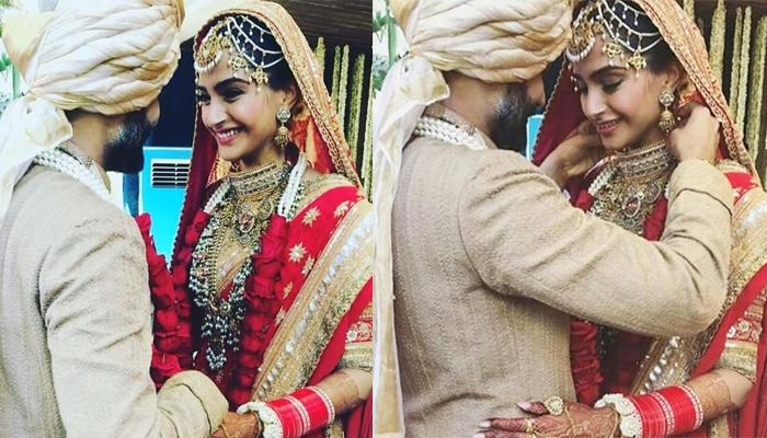 Anand Ahuja Ties Mangalsutra To His Wife Sonam Kapoor Ahuja, She Is Smiling With Happiness