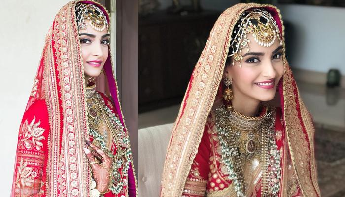 Sonam Kapoor Wore An Exquisite Vintage Matha Patti On Her Wedding, Has A Beautiful Story Behind It