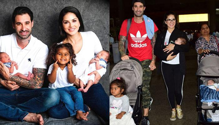 Sunny Leone And Daniel Weber Make Their First Public Appearance As A Complete Family