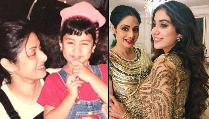 Janhvi Kapoor's Shared Unseen Picture With Late Mother, Sridevi Twinning In Denim Dungarees