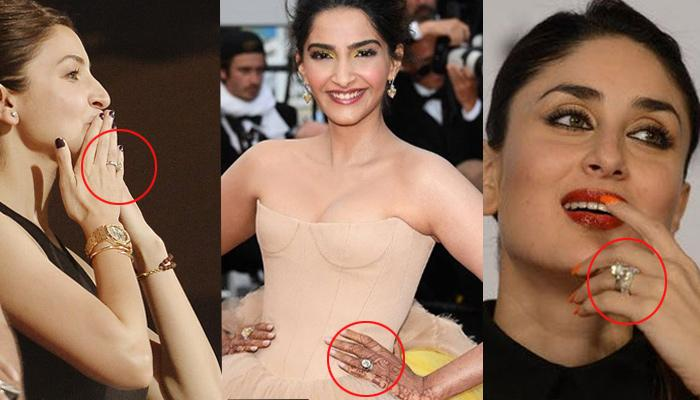 15 Bollywood Actresses Who Flaunt Their Super-Expensive Engagement Rings With 'Swag'