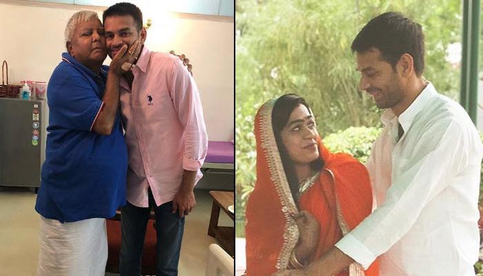Lalu Prasad Yadav's Son Tej Pratap Yadav Takes Newbie Wife Aishwarya Rai On A Romantic Bicycle Ride