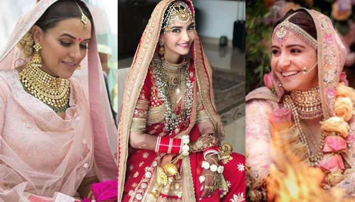 10 Famous Bollywood Brides Who Wore Stunning Jewellery At Their Wedding