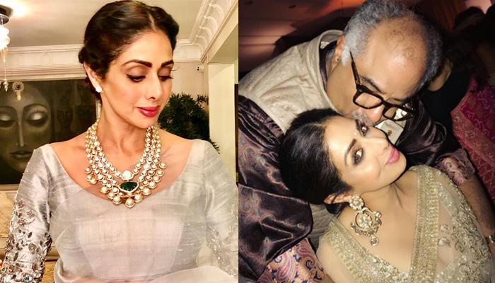 A Stunning Painting Made By Late Sridevi Has Found A Special Place In Husband Boney Kapoor's Office