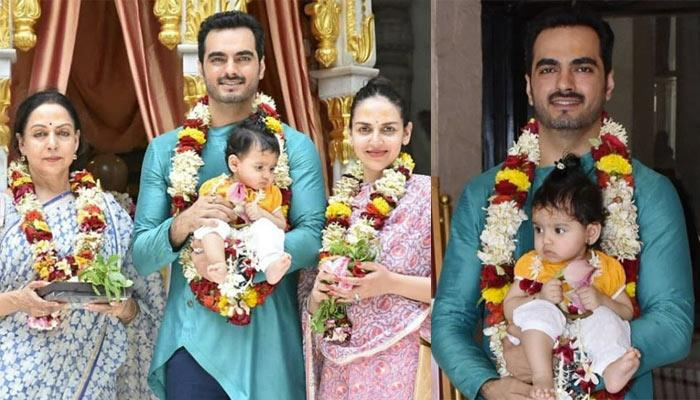Radhya Takhtani Visits ISCKON Temple With Mommy Esha, Daddy Bharat And 'Naani' Hema